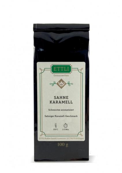Sahne-Karamell 100g -Schwarztee aromatisiert-