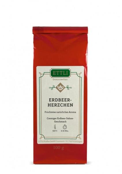 Erdbeer-Herzchen 100g -Früchtetee natürliches Aroma-
