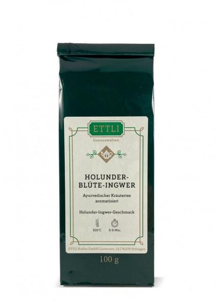 Holunderblüte-Ingwer 100g -Ayurvedischer Kräutertee aromatisiert-