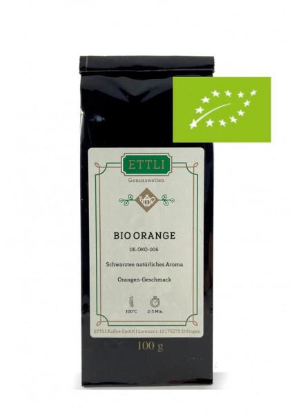 Bio Orange 100g -Schwarztee natürliches Aroma- DE-ÖKO-006
