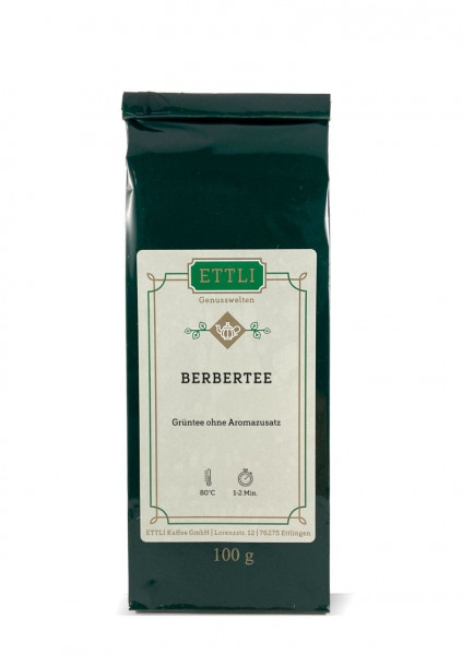 Berbertee 100g -Grüntee ohne Aromazusatz-