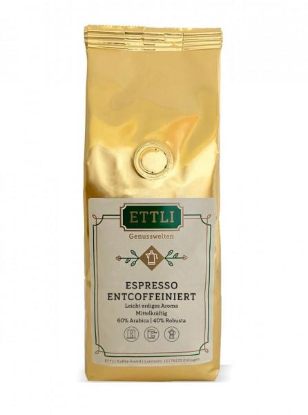 Espresso, entkoffeiniert