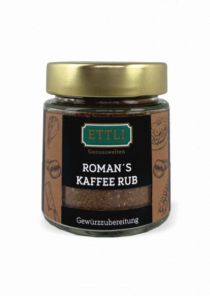 Roman's Kaffee Rub 70g im Schraubglas -Gewürzzubereitung-